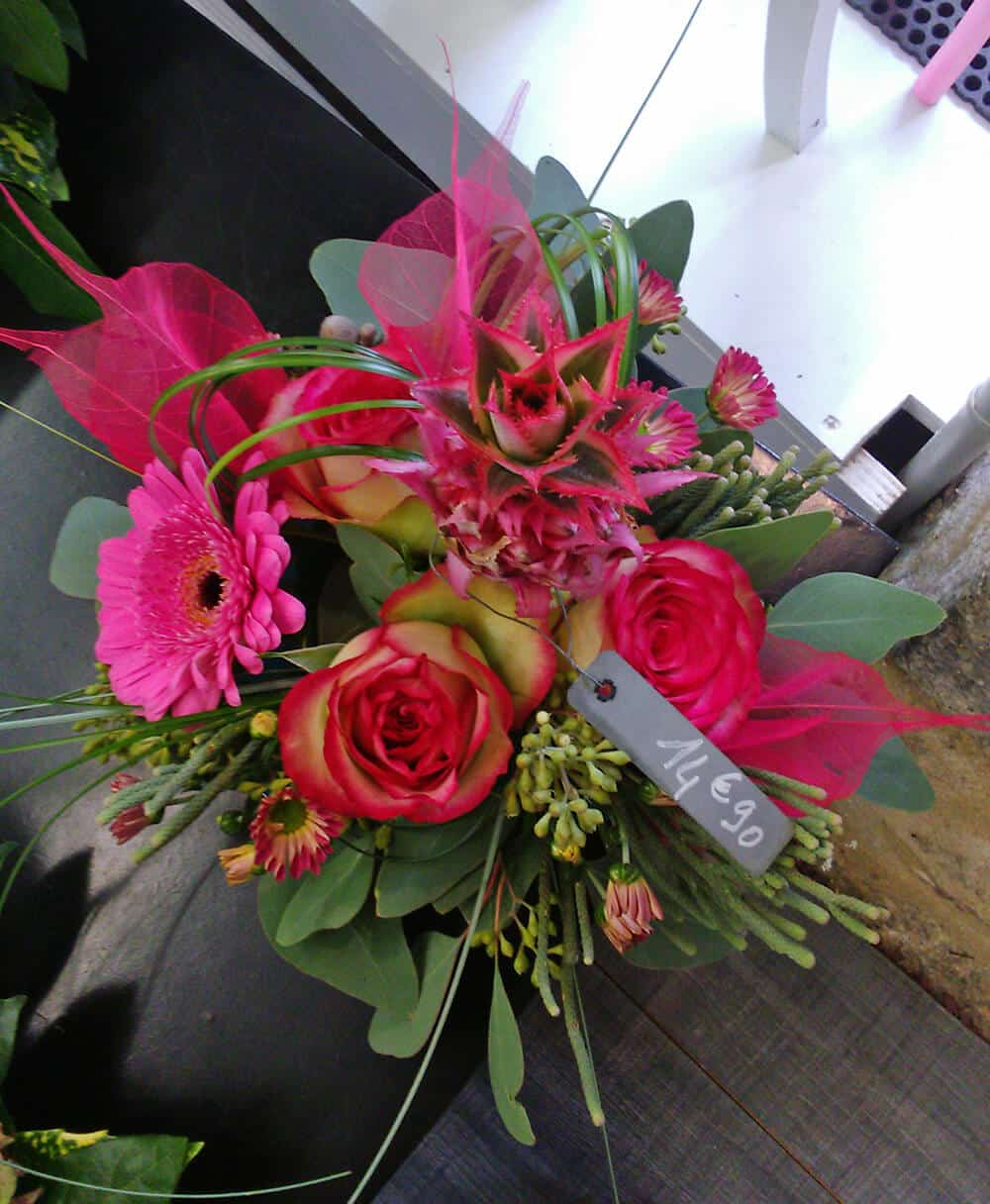 Bouquet couleur rose Saint-Valentin