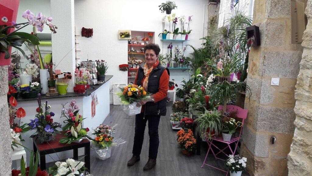 Jacqueline Bayer, fleuriste à Alençon