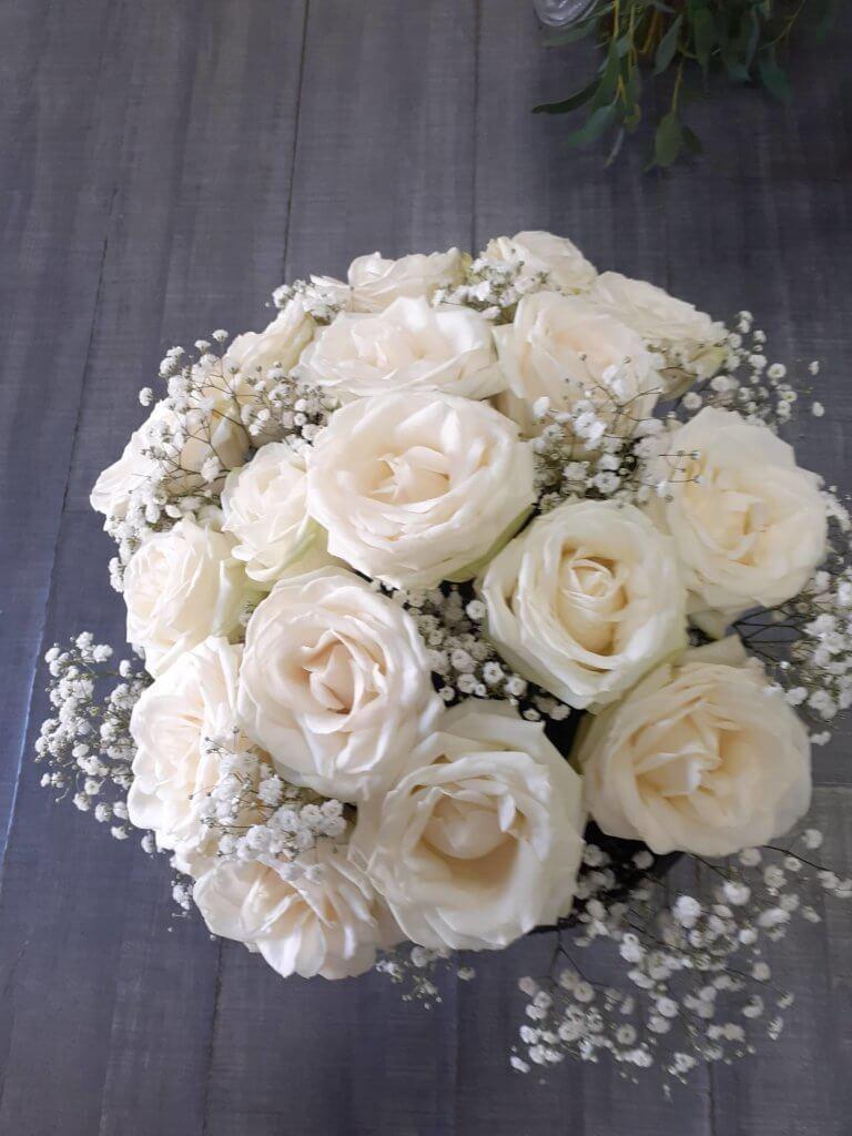 bouquet de mariée de roses
