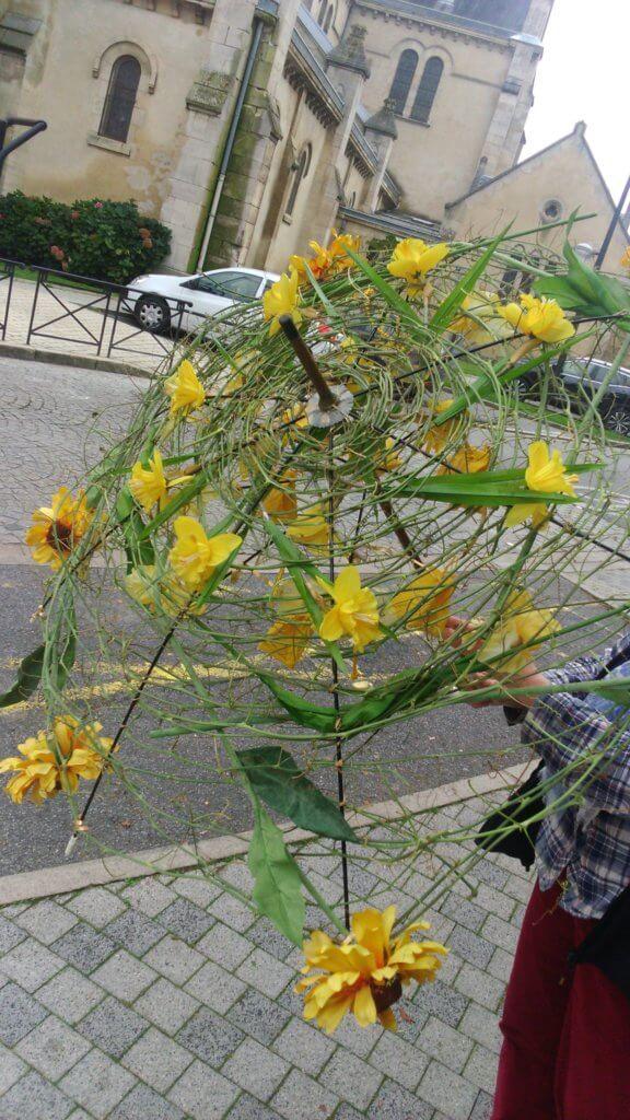Parapluie de fleurs